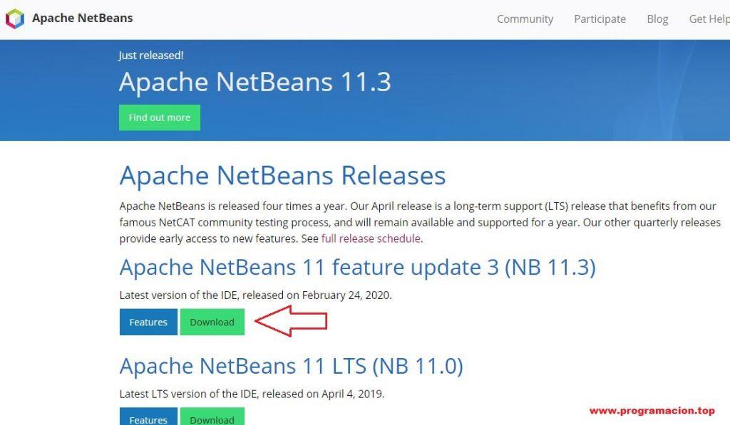 instalar apache netbeans 11.3
