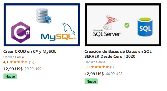 Crear Base de Datos en Sql Server y Mysql
